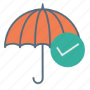 insurance, protection, rain, secutiry, umbrella icon