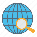 globe, globel, international, logistic, search icon