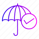 insurance, protection, rain, secutiry, umbrella icon