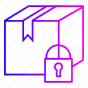 delivery, lock, security icon