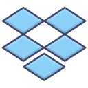 brand, dropbox, logo, upload icon