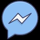 facebook, logo, media, messenger, social