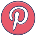 logo, pinterest, social, website icon