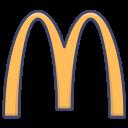 brand, burger, logo, mcdonalds icon