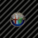 56, alfa romeo, logo icon