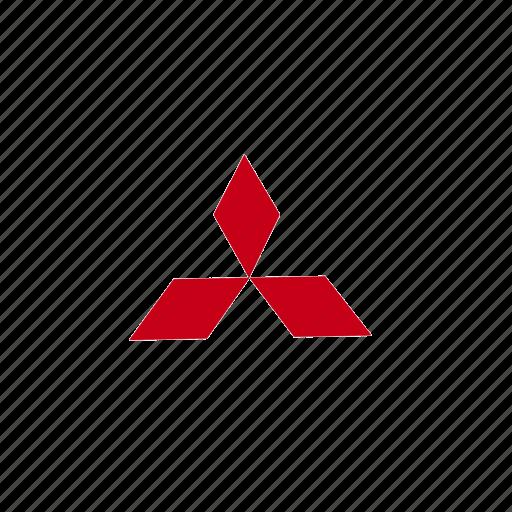 55, logo, mitsubishi icon