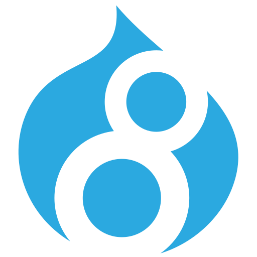 cms, code, development, drupal, logo, web icon