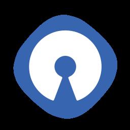 cms, logo, open, source icon
