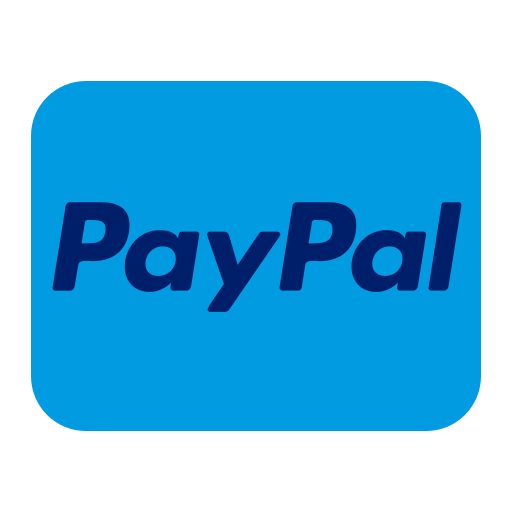 card, credit, logo, paypal icon