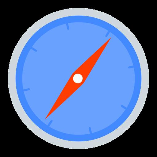 logo, safari icon