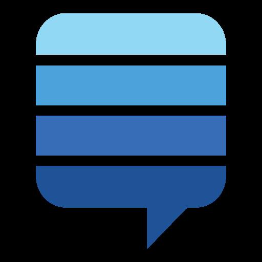exchange, logo, stack icon