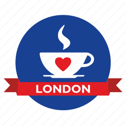 cup, heart, london, love, swear, tea, tradition icon