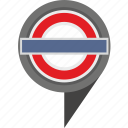 britain, geo, london, pointer, underground icon