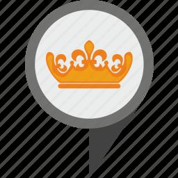 britain, geo, london, pointer, queen icon