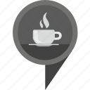 cafe, geo, hot, pointer, tea icon