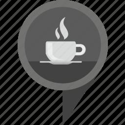 cafe, geo, hot, pointer, tea icon
