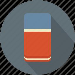 blue, longico, red, rubber, school icon