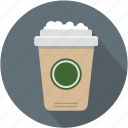 coffee, cup, longico, starbucks icon