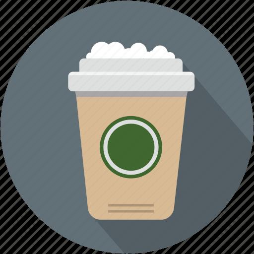 coffee, cup, longico, starbucks icon