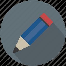 longico, pencil, school icon