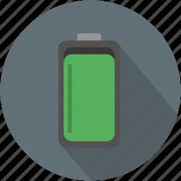battery, duracell, energy, full, longico icon