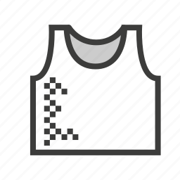 clothes, clothing, jersey, shirt, singlet, undershirt, vest icon