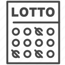 lotto, lottery, raffle, bet, card, ticket