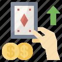 bet, bingo, dollar, gambling, lottery, lotto, risk icon