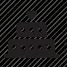 cake, heart, love, pie, valentine's day, valentines, wedding icon