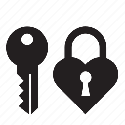 heart, key, love, padlock, valentine's day, valentines icon