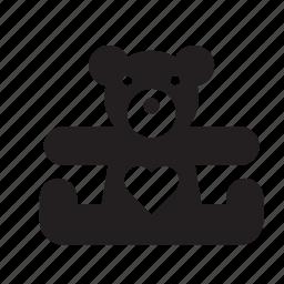 bear, cuddly, love, teddy, teddybear, toy, valentine's day icon