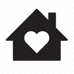 building, heart, home, house, love, valentine's day, valentines icon