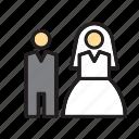 bride, couple, groom, love, people, wedding