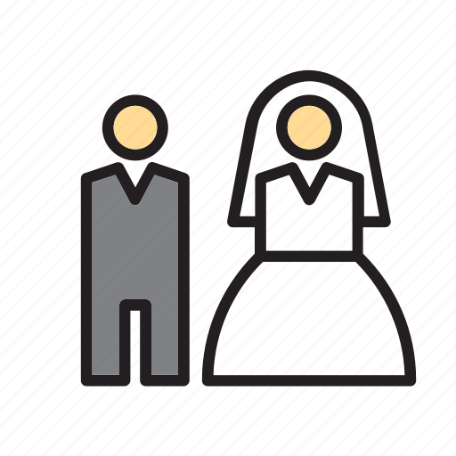 bride, couple, groom, love, people, wedding icon