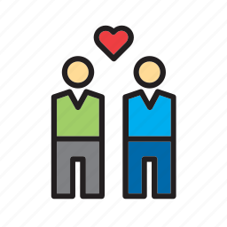 couple, gay, heart, in love, love, people, romance icon