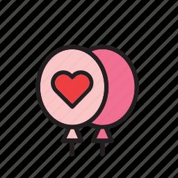 balloon, balloons, day, heart, love, romance, valentines icon