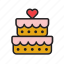 cake, food, heart, love, pie, wedding icon