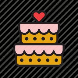 cake, food, heart, love, pie, wedding icon