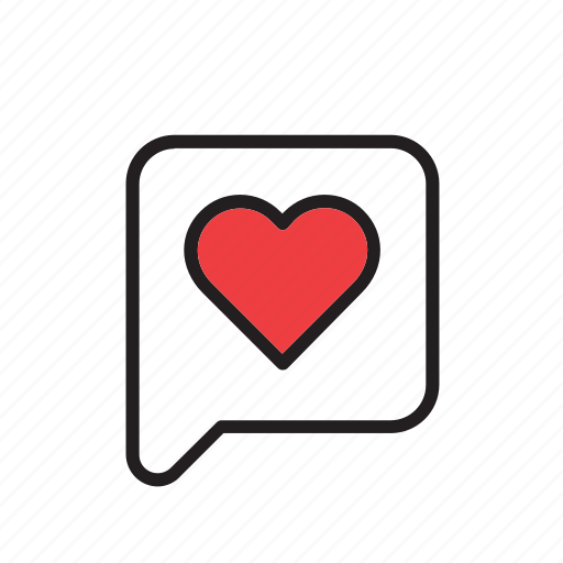 bubble, day, heart, love, romance, speech, valentines icon