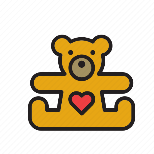 bear, cuddly, love, teddy, teddybear, toy, valentines icon