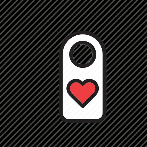 do not disturb, door, hotel, label, love, sign, valentines icon