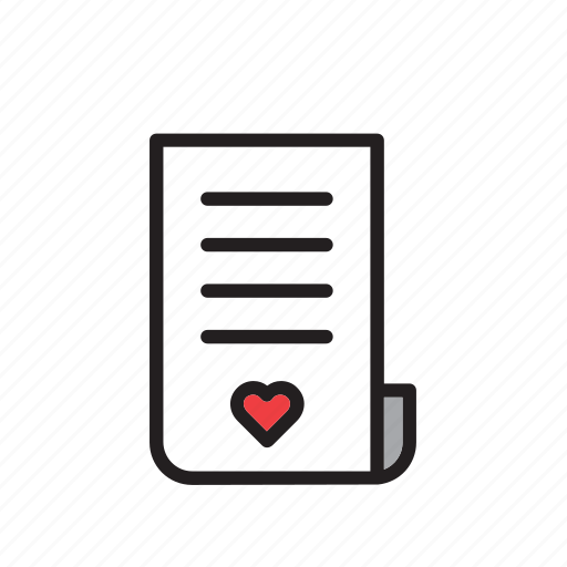 day, heart, letter, love, romance, stationery, valentines icon