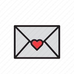 day, envelope, heart, letter, love, stationery, valentines icon