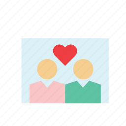 couple, heart, in love, love, people, photo, valentines icon