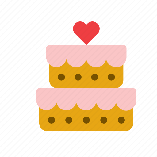 cake, food, heart, love, pie, valentines, wedding icon
