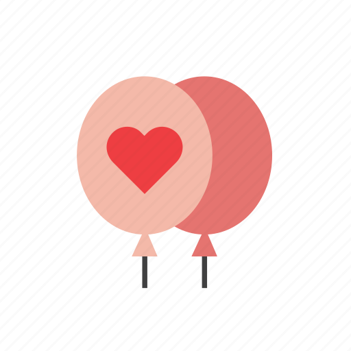 balloon, heart, love, romance, valentines icon