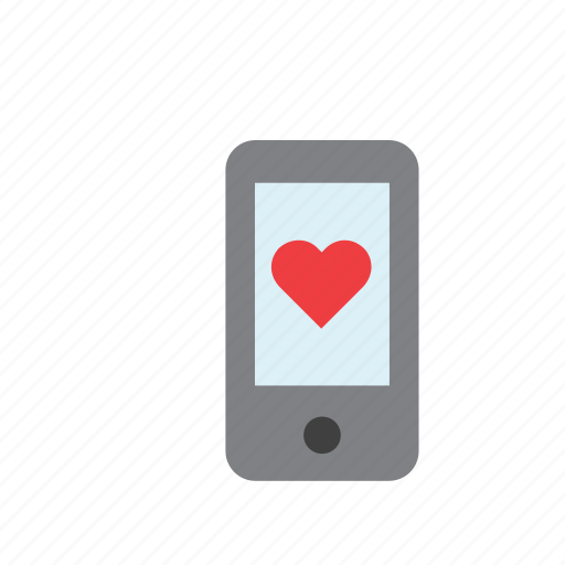 cellphone, heart, love, phone, romance, smartphone, valentines icon