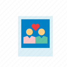 couple, instant, love, people, photo, polaroid, valentines icon
