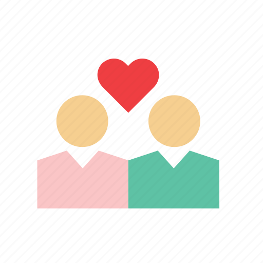 couple, heart, in love, love, people, romance, valentines icon