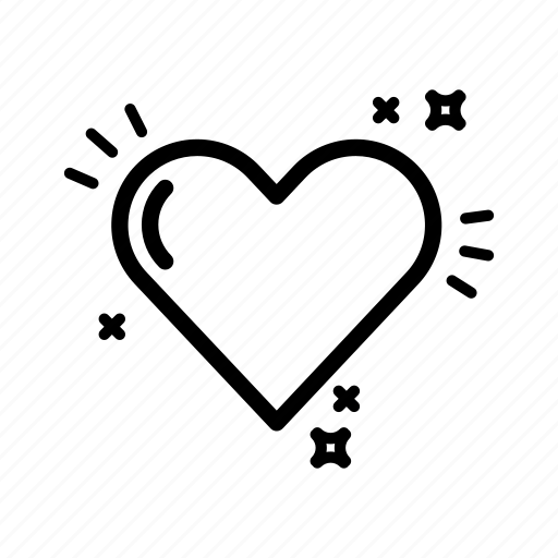 heart, like, love, shine, valentines day, wedding icon